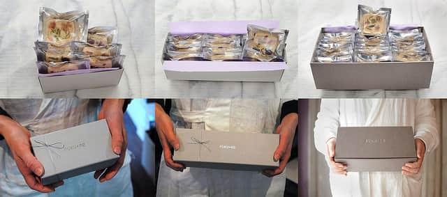 お菓子の詰め合わせギフトボックス
