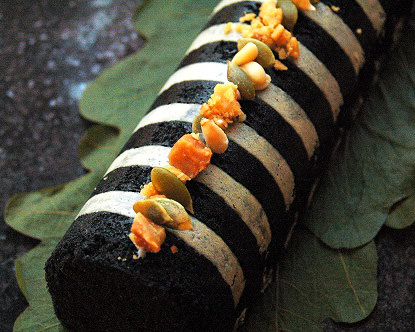 黒ごまたっぷりのふくれ菓子