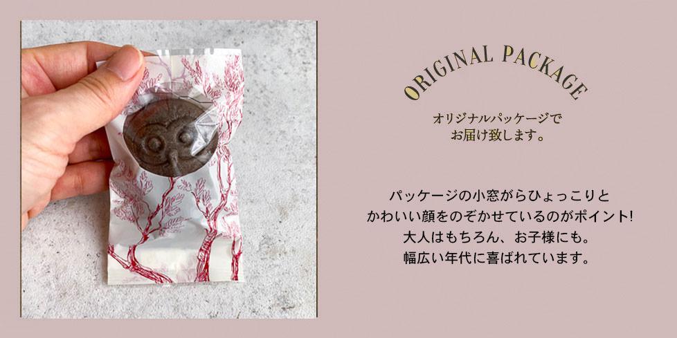 チョコフクロウ個包装パッケージ