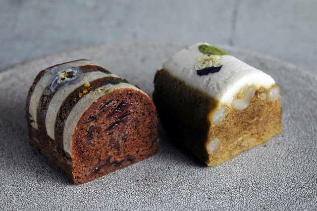 緑茶と黒ごまのふくれ菓子
