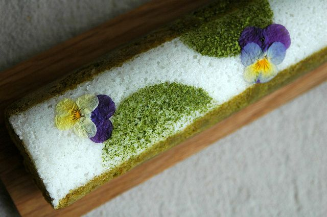 鹿児島(霧島)産の有機煎茶を使ったふくれ菓子