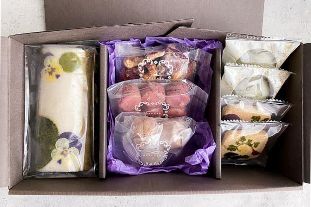 ふくれ菓子,焼き菓子,クッキー,スイーツギフト,鹿児島土産,おしゃれなスイーツ,エディブルフラワー